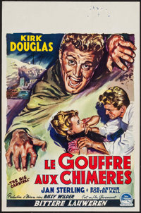 """Ace In The Hole (Paramount, 1951). Belgian (14"""" X 22"""") Alternate Title: The Big Carnival. Film Noir"""