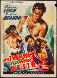 "A Streetcar Named Desire (Warner Brothers, 1951). Belgian (14"" X 19.25""). Drama"