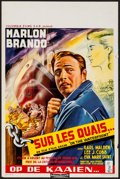 "Movie Posters:Academy Award Winners, On the Waterfront (Columbia, 1954). Belgian (14"" X 22""). Academy Award Winners.. ..."