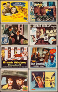 """Movie Posters:Film Noir, The Asphalt Jungle & Others Lot (MGM, 1950). Title Lobby Cards (4) & Lobby Cards (8) (11"""" X 14""""). Film Noir.. ... (Total: 12 Item)"""