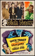 "Movie Posters:Crime, Dick Tracy Meets Gruesome & Other Lot (RKO, 1947). Title LobbyCard & Lobby Card (11"" X 14""). Crime.. ... (Total: 2 Items)"