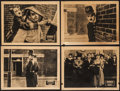 """Movie Posters:Comedy, Easy Street & Other Lot (Select, R-1921). Lobby Cards (4) (11""""X 14"""") & Magazine (Multiple Pages, 8.25"""" X 11.25""""). Comed...(Total: 5 Items)"""