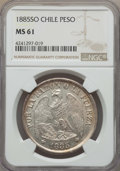 Chile, Chile: Republic Peso 1885-So MS61 NGC,...