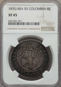 Colombia, Colombia: Republic 8 Reales 1835/4-RS XF45 NGC,...