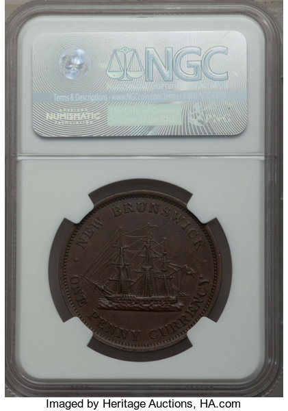 Coins: Canada Other Canadian Coins Canada New Brunswick Penny Km-4 1854