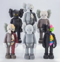 Collectible, KAWS (b. 1974). Companion (set of six), 2016. Painted cast vinyl. 11 inches (27.9 cm) (each). Open edition. Each sta... (Total: 6 Items)