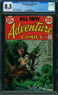 Adventure Comics #427 (DC, 1973) CGC VF+ 8.5 OFF-WHITE pages