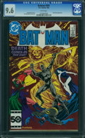 Modern Age (1980-Present):Superhero, Batman #391 (DC, 1986) CGC NM+ 9.6 WHITE pages.