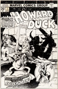 Original Comic Art:Miscellaneous, Frank Brunner Howard the Duck #1 Cover Production Stats(Marvel, 1976)....