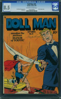Golden Age (1938-1955):Superhero, Doll Man #24 (Quality, 1949) CGC VF+ 8.5 OFF-WHITE TO WHITE pages.