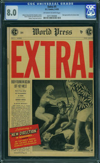 Extra! #1 (EC, 1955) CGC VF 8.0 OFF-WHITE TO WHITE pages