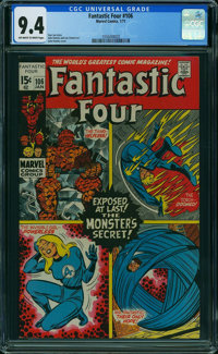 Fantastic Four #106 (Marvel, 1971) CGC NM 9.4 OFF-WHITE TO WHITE pages