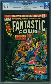 Fantastic Four #144 - MILE HIGH II COLLECTION (Marvel, 1974) CGC NM- 9.2 White pages