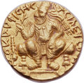 Ancients:Oriental, Ancients: INDIA. Kushan Empire. Vima Kadphises (ca. AD 113-127). AV double dinar (24mm, 15.95 gm, 12h). Choice AU....