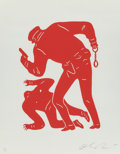 Prints & Multiples, Cleon Peterson (b. 1973). Police Shooting (Red), 2015. Screenprint. 18 x 14 inches (45.7 x 35.6 cm) (sheet). Ed. 50/50. ...