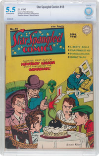 Star Spangled Comics #48 (DC, 1945) CBCS FN- 5.5 Off-white to white pages