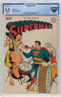 Superman #42 (DC, 1946) CBCS Conserved GD/VG 3.0 Off-white to white pages