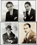 "Movie Posters:Miscellaneous, Edward G. Robinson Lot (Universal/Warner Brothers, 1930s-1940s).Photos (4) (7.5"" X 9.5"", 9.75"" X 7.75"", 8"" X 10"") Roman Fre...(Total: 4 Items)"