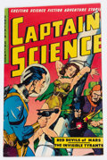 Golden Age (1938-1955):Science Fiction, Captain Science #6 (Youthful Magazines, 1951) Condition: FN....