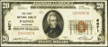 National Bank Notes:Colorado, Paonia, CO - $20 1929 Ty. 1 The First NB Ch. # 6671. ...