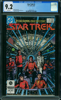Star Trek #1 (DC, 1984) CGC NM- 9.2 WHITE pages