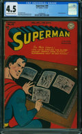 Golden Age (1938-1955):Superhero, Superman #49 (DC, 1947) CGC VG+ 4.5 OFF-WHITE TO WHITE pages.