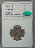 Proof Indian Cents, 1885 1C PR67 Brown NGC. CAC....