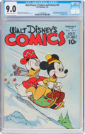 Golden Age (1938-1955):Cartoon Character, Walt Disney's Comics and Stories #41 (Dell, 1944) CGC VF/NM 9.0 Off-white to white pages....