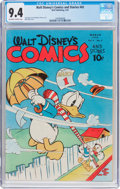 Golden Age (1938-1955):Cartoon Character, Walt Disney's Comics and Stories #42 (Dell, 1944) CGC NM 9.4 Off-white to white pages....
