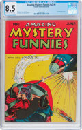 Golden Age (1938-1955):Science Fiction, Amazing Mystery Funnies V2#6 (Centaur, 1939) CGC VF+ 8.5 Cream tooff-white pages....