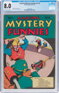 Golden Age (1938-1955):Adventure, Amazing Mystery Funnies V2#3 (Centaur, 1939) CGC VF 8.0 Cream tooff-white pages....
