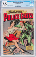 Golden Age (1938-1955):Crime, Authentic Police Cases #6 (St. John, 1948) CGC VF- 7.5 Off-white to white pages....