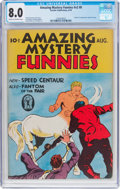Golden Age (1938-1955):Superhero, Amazing Mystery Funnies V2#8 (Centaur, 1939) CGC VF 8.0 Cream tooff-white pages....