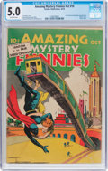 Golden Age (1938-1955):Superhero, Amazing Mystery Funnies V2#10 (Centaur, 1939) CGC VG/FN 5.0Off-white pages....