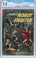Silver Age (1956-1969):Science Fiction, Magnus Robot Fighter #1 (Gold Key, 1963) CGC VF- 7.5 Off-white towhite pages....