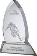 Football Collectibles:Others, 1984 NFL Alumni Player of the Year Award Presented to John Hannah....