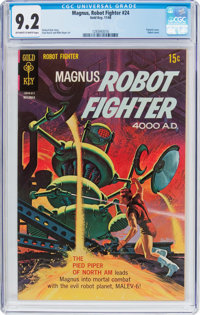 Magnus Robot Fighter #24 (Gold Key, 1968) CGC NM- 9.2 Off-white to white pages