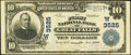 National Bank Notes:Montana, Great Falls, MT - $10 1902 Plain Back Fr. 626 The First NB Ch. # (W)3525. ...