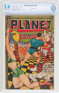 Planet Comics #34 (Fiction House, 1945) CBCS VG/FN 5.0 Off-white to white pages