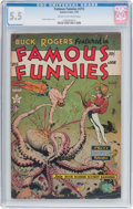 Golden Age (1938-1955):Science Fiction, Famous Funnies #215 (Eastern Color, 1955) CGC FN- 5.5 Cream tooff-white pages....