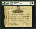 Colonial Notes:Virginia, Virginia March 4, 1773 £3 PMG Very Fine 25 Net.. ...