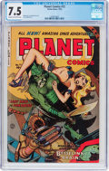 Golden Age (1938-1955):Science Fiction, Planet Comics #72 (Fiction House, 1953) CGC VF- 7.5 Cream tooff-white pages....