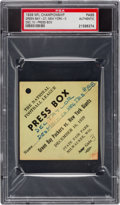 Football Collectibles:Tickets, 1939 NFL Championship Game Packers vs. Giants Full Press Pass PSA Authentic - Only One Known! ...