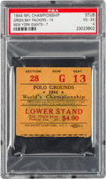 Football Collectibles:Tickets, 1944 NFL Championship Game Packers vs. Giants Ticket Stub PSA VG-EX 4 - Highest Graded Example!...