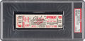 """Football Collectibles:Tickets, 1965 Green Bay Packers vs. Baltimore Colts """"Phantom Field Goal"""" Playoff Game Full Ticket PSA EX 5 - Highest Graded! ..."""