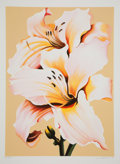 Prints:Contemporary, Lowell Nesbitt (1933-1993). Peach Lily on Beige, 1980.Screenprint in colors. 40 x 29 inches (101.6 x 73.7 cm) (image)....