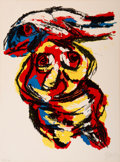 Prints:Contemporary, Karel Appel (1921-2006). Figurative Abstract, 1963.Lithograph in colors. 30-1/8 x 22-1/4 inches (76.5 x 56.5 cm)(sheet...