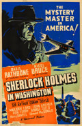 "Movie Posters:Mystery, Sherlock Holmes in Washington (Universal, 1943). Silk-Screen Poster(40"" X 60"").. ..."
