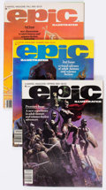 Magazines:Science-Fiction, Epic Illustrated Group of 18 (Marvel, 1980-85) Condition: AverageFN/VF.... (Total: 18 Comic Books)