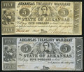 Obsoletes By State:Arkansas, (Little Rock), AR- State of Arkansas $5 Oct. 6, 1863 Cr. 50B and Mar. 28, 1862 Cr. 52.. ... (Total: 2 notes)